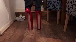 16 inch mega heels Walking attempt :)