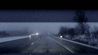 Thunderstorm In Winter Caught On Dash Cam Indiana January 22, 2012