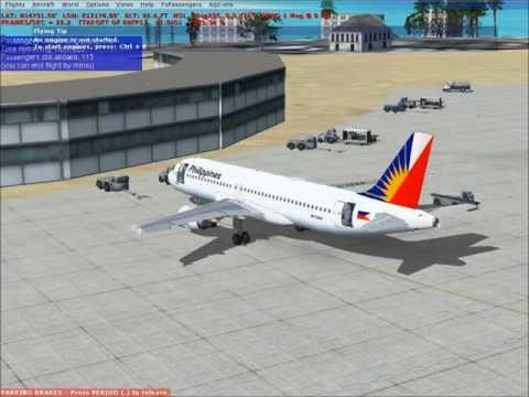 FSX Philippine Airlines A320-200 Guam to Manila