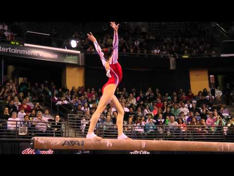 Kyla Ross - Balance Beam Finals (1st place!) - 2012 Kellogg&#039;s Pacific Rim Championships