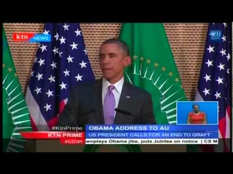 US President Obama concludes his trip to Africa with a hard hitting address at the AU headquarters