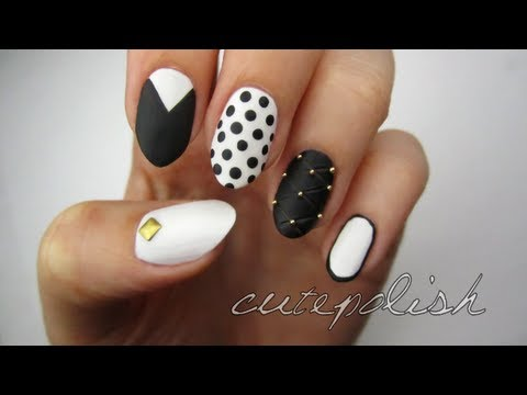 Mix & Match: Monochrome Nails