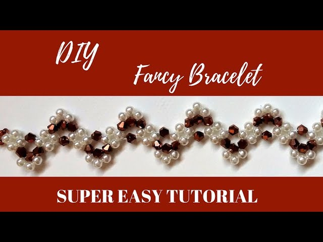 How to make a beaded bracelet. Learn beading by making an easy beaded pattern