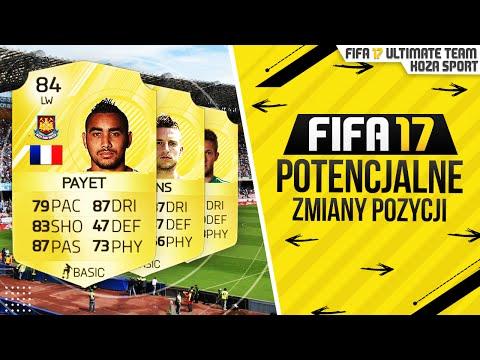 FIFA 17 POTENCJALNE ZMIANY POZYCJI