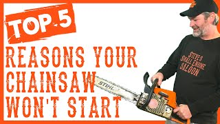 How To Repair a Chainsaw if it Won't Start