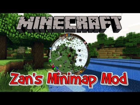 Minecraft 1.7.10 Mod - Zan's Minimap (VoxelMap) - Mob Detection + Set Waypoints!