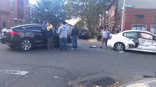 Cars accident  Brooklyn New York