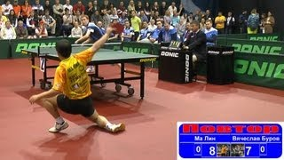 MA Lin vs Vyacheslav BUROV 1/4 Russian Premier League Playoff Table Tennis