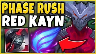 NEW PHASE RUSH  RED KAYN BUILD VS ANNIE BOT HOW ST