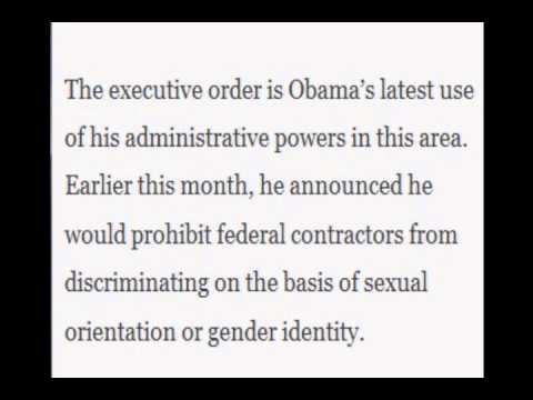 Executive order announces protecting  Gender identity.
