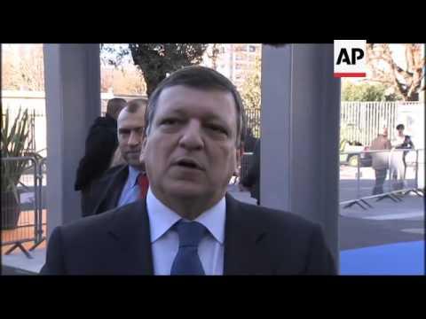 WRAP European leaders gather in Marseilles, Merkel, Sarkozy