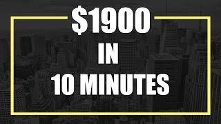 IQ Option  $1900 in 10 Minutes