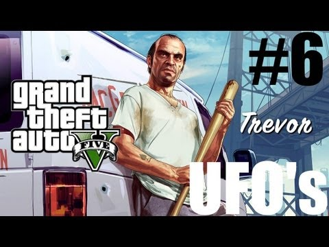 Grand Theft Auto V - Free Roaming Walkthrough - Part 6 - Finding A UFO, Trevor Runs a Triathlon