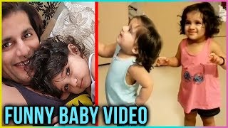 Karanvir Bohra's Baby Girls FUNNY REACTION On Eating Kiwi | Cute Baby Videos | TellyMasala