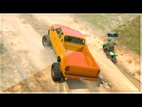 Monster Truck Motor Bike Battle (gta 5 Funny Moments) video