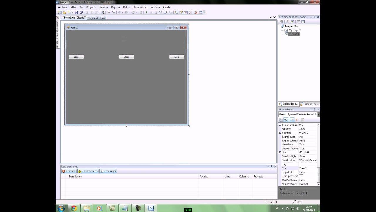 Como hacer una barra de progreso en Visual Basic 2008 ...