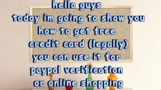 HOW TO GET FREE MASTER CARD + US$25 |2016| all countries