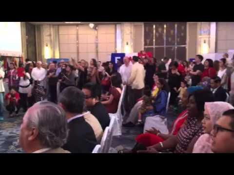 Indonesian embassy choir sings Heal The World at Diplomatic Charity Bazaar 2015, Shangri-La Hotel