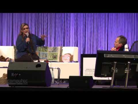 Star Wars Celebration: Carrie Fisher und ihr Ewoks fressender Hund