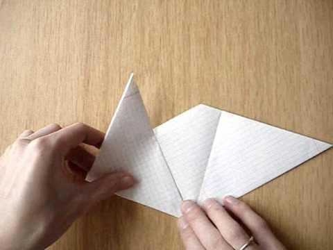 Бумажная хлопушка Origami Youtube