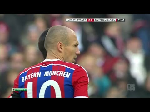 Arjen Robben vs VfB Stuttgart (Away) 14-15 HD 720p by Robben10i