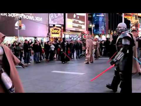!!!!!!!!!!!!!!!!!STAR WARS  The Old Republic - Times Square Freeze Mob must watch