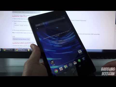 Nexus 7 2013 Root + Unlock Bootloader + Custom Recovery