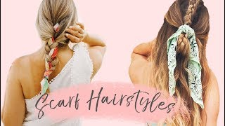 Easy To Do Scarf Hairstyles!!