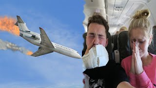 OUR AIRPLANE ALMOST CRASHED! - GAS LEAK