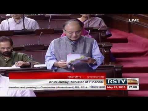 Sh. Arun Jaitley moving The Companies (Amendment) Bill, 2014 for consideration and passing