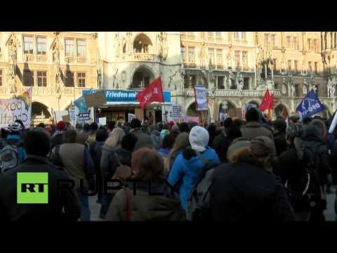 Акции протеста в Мюнхене против политики НАТО