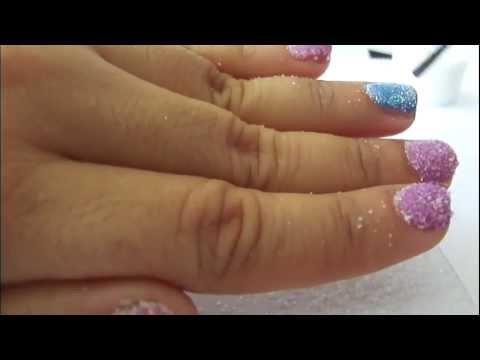 Diseño de uñas usando azucar  ♥  fácil y originales! para uñas cortas o la