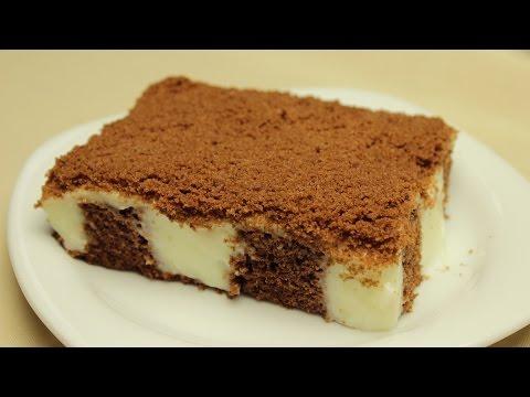 Vanilyalı Puding Dolgulu Kek Tarifi - Pudingli Yaş Pasta Yapımı