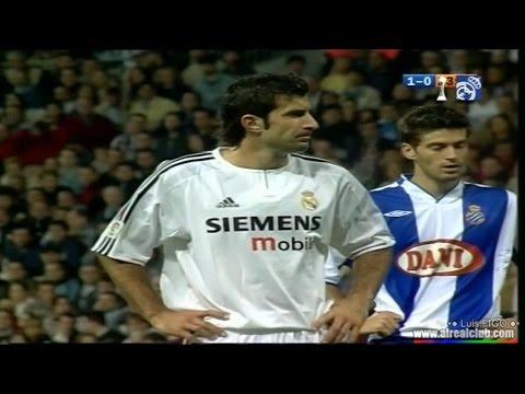 real madrid vs Espanyol 2003/2004 2-1 figo zidane ronaldo beckham