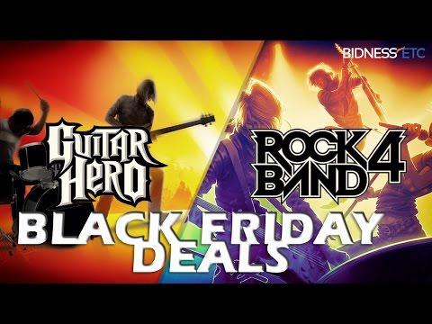 Guitar Hero Live & Rock Band 4 Black Friday Deals! Free Songs, Standalone Guitars & More!