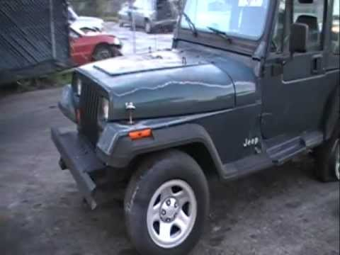 Rear damage 1994 jeep wrangler yj parts for sale for 1994 jeep cherokee floor pans
