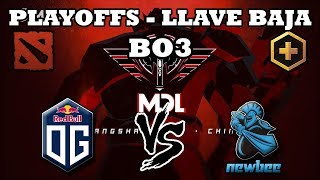 DOTA 2 EN VIVO - OG vs Newbee BO3 MDL Changsha Playoffs Llave Baja