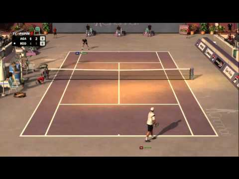 Top Spin 4 Andy Roddick vs. Andre Agassi Cincinnati Open Part 2