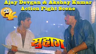 Ajay Devgan & Akshay Kumar Action Fight Scene from Suhaag Action Drama Movie