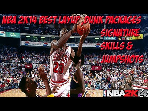 NBA 2K14 My Career - Best Dunk/Layup Packages | Best Jumpshot Release and Signature Skills