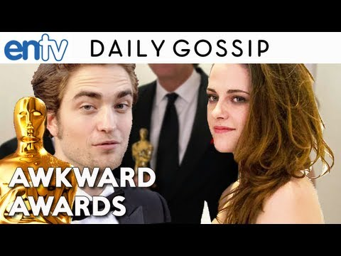 Oscars 2013 Kristen Stewart : Crutches, Robert Pattinson And Worst Night Ever - Entv video