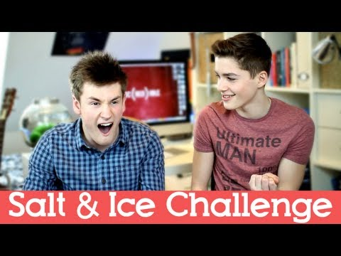 SALT AND ICE CHALLENGE! | OliWhiteTV + JacksGap