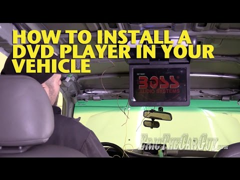 How To Install a DVD Player In Your Vehicle -EricTheCarGuy