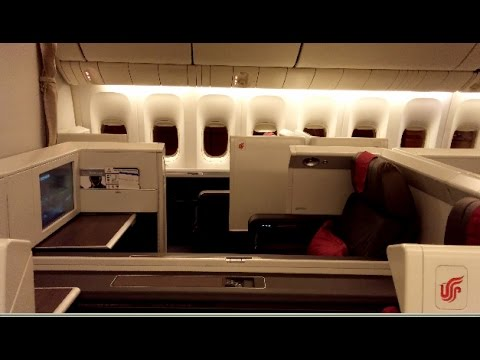 4K UHD Air China Boarding & Inside  First Class Cabin 777-300ER Forbidden Pavillion Boeing