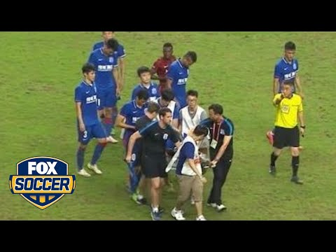 Demba Ba suffers horrific leg injury in Shanghai Derby (WARNING: graphic video content)