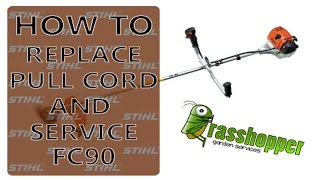 how to change a stihl chainsaw pull start