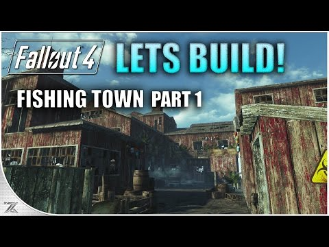 Fallout 4 Far Harbor - Lets Build a Fishing Town | Longfellow's Cabin