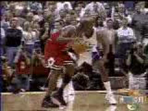 Michael Jordan breaks the Utah Jazz Heart by hitting the game winning shot of the 1998 NBA Finals. A great push-off on Brian Russell by Michael Jordan who is...