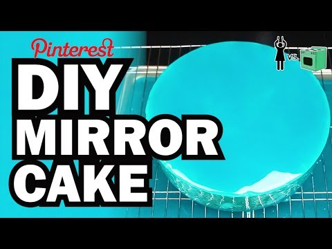 DIY Mirror Cake. Corinne VS Cooking #9