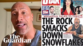 The Rock: Daily Star story criticising millennials